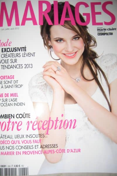 Our wedding story featured in Marie Claire Mariages
