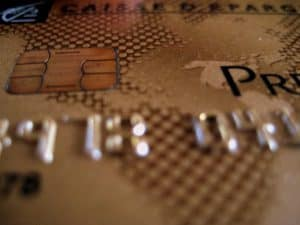 Debit card with chip