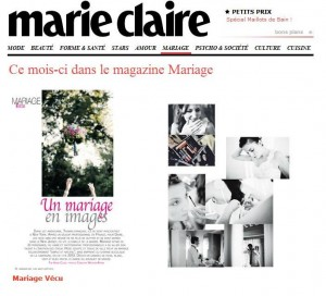 Marie Claire mariages feature