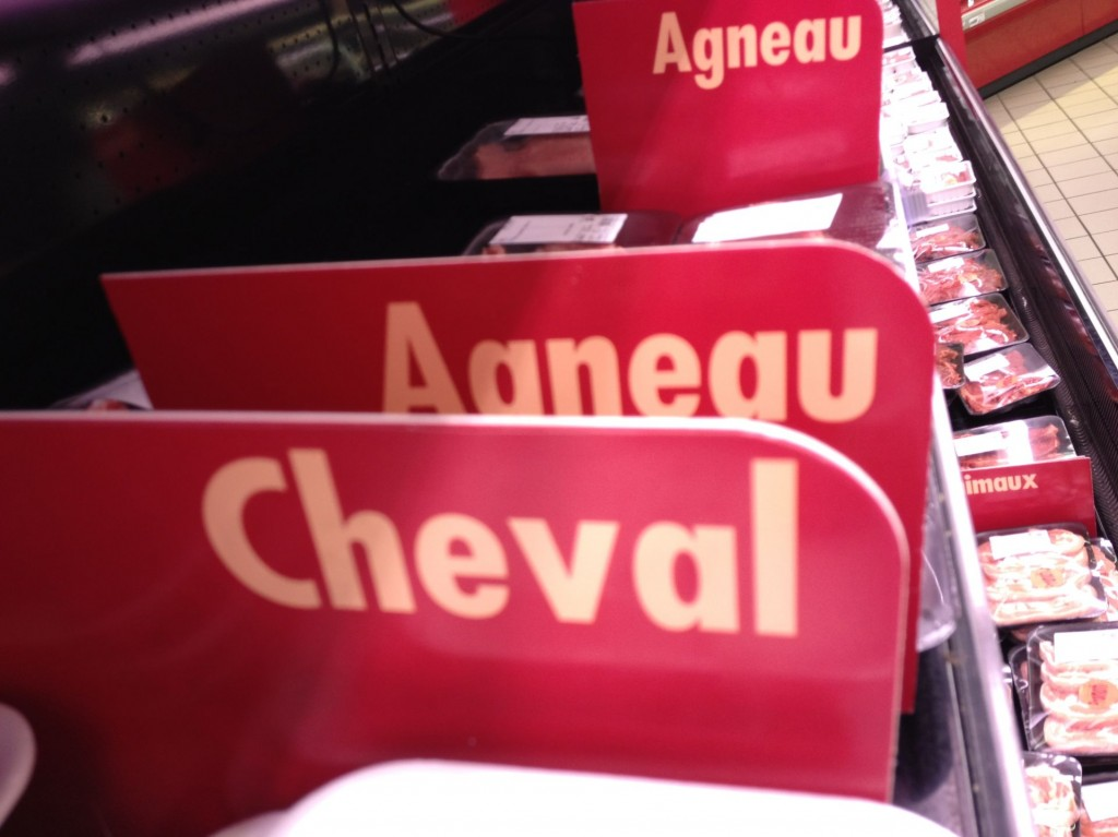 Cheval horse meat