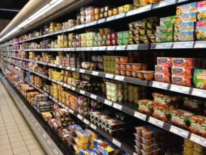 French grocery stores dessert aisle