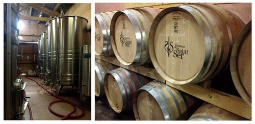 Domaine de Saint Ser wine production