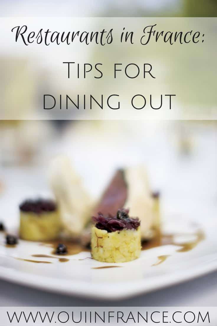 Tips for dining out in france