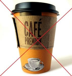 No coffee to go in France