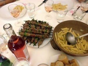 Family dinner table Provence, France
