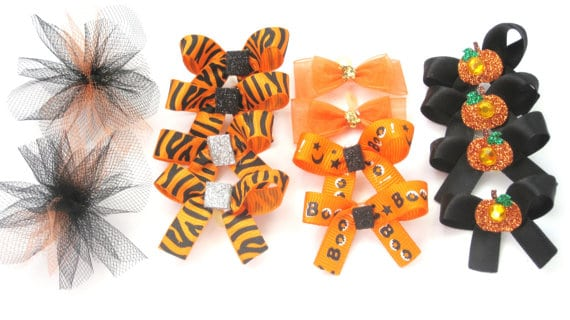 halloween etsy puppy dog bows
