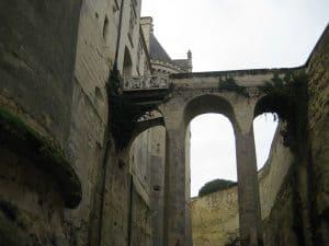 Chateau de Breze looking up