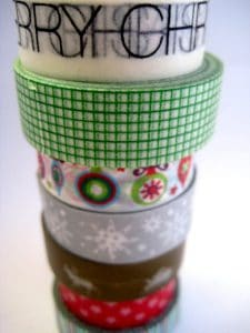 Christmas crafts washi tape