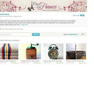 My French vintage Etsy shop is open for business!