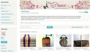 French vintage Etsy Oui In France