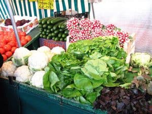 French market veggies