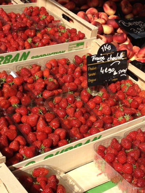 French strawberries