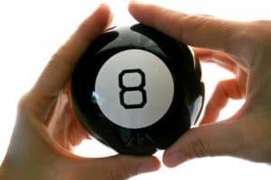 Magic eight ball we made a decision