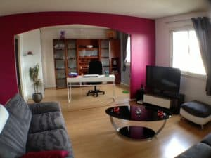 French family room open