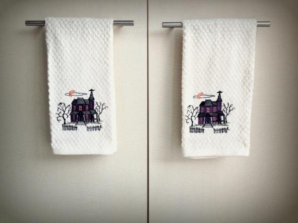 Halloween dish towels