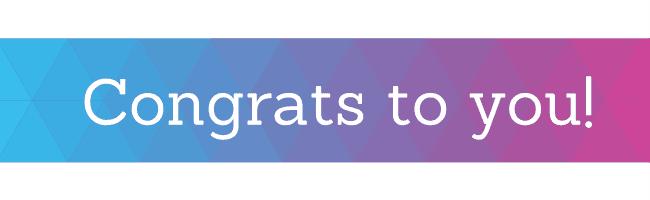 Congrats to you!