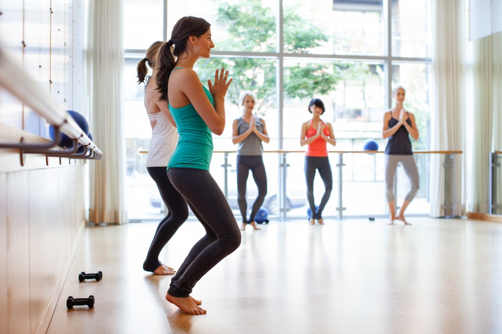 barre3 workout in studio fitness