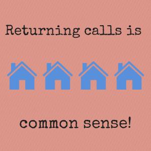 Returning calls is