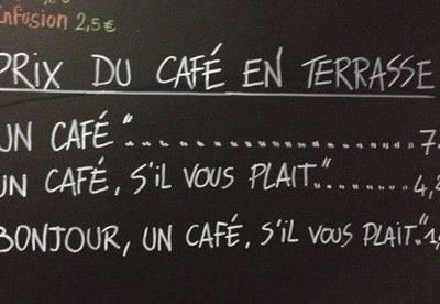 France coffee shop proves manners do make a difference