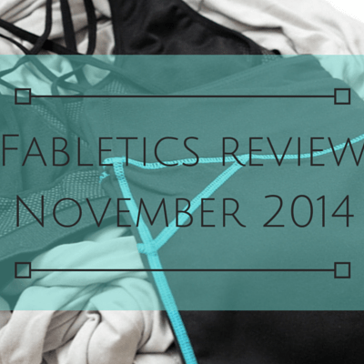 Fabletics review November 2014 (and yup they're in France too!)