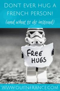 hugging in france