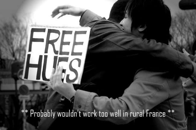 do you hug in france