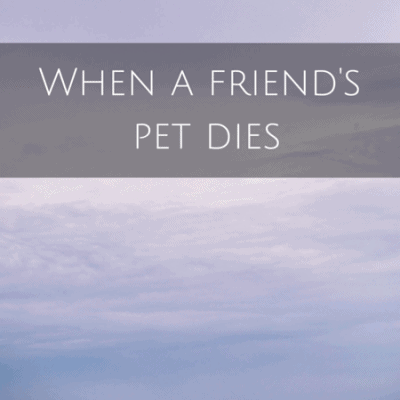 When a friend's pet dies