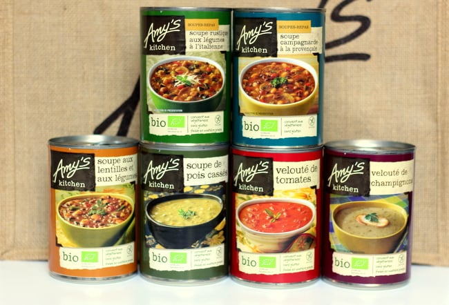amy's kitchen soups in france