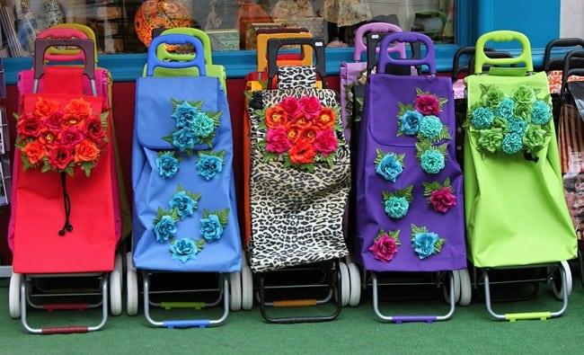 shopping trolleys in france