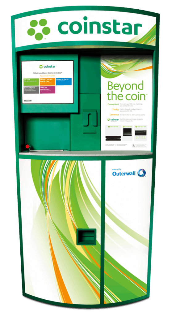 Coinstar coin counter machine