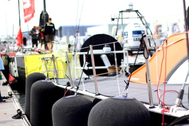 Volvo ocean race lorient boat exterior