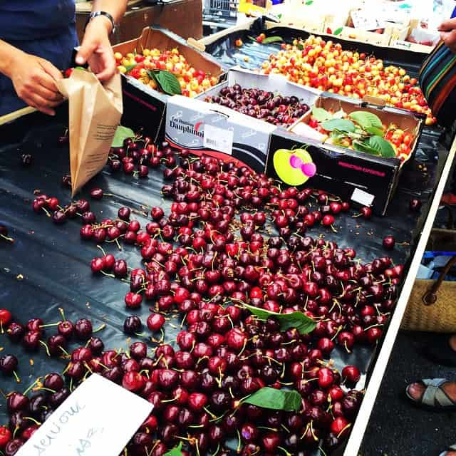 cherries at lorient france market