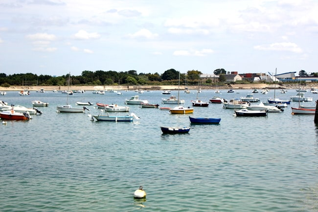 larmor plage boats france