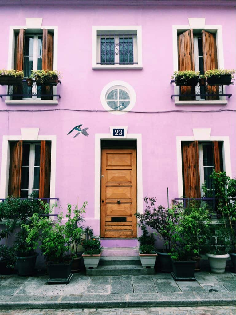 rue cremieux pink house