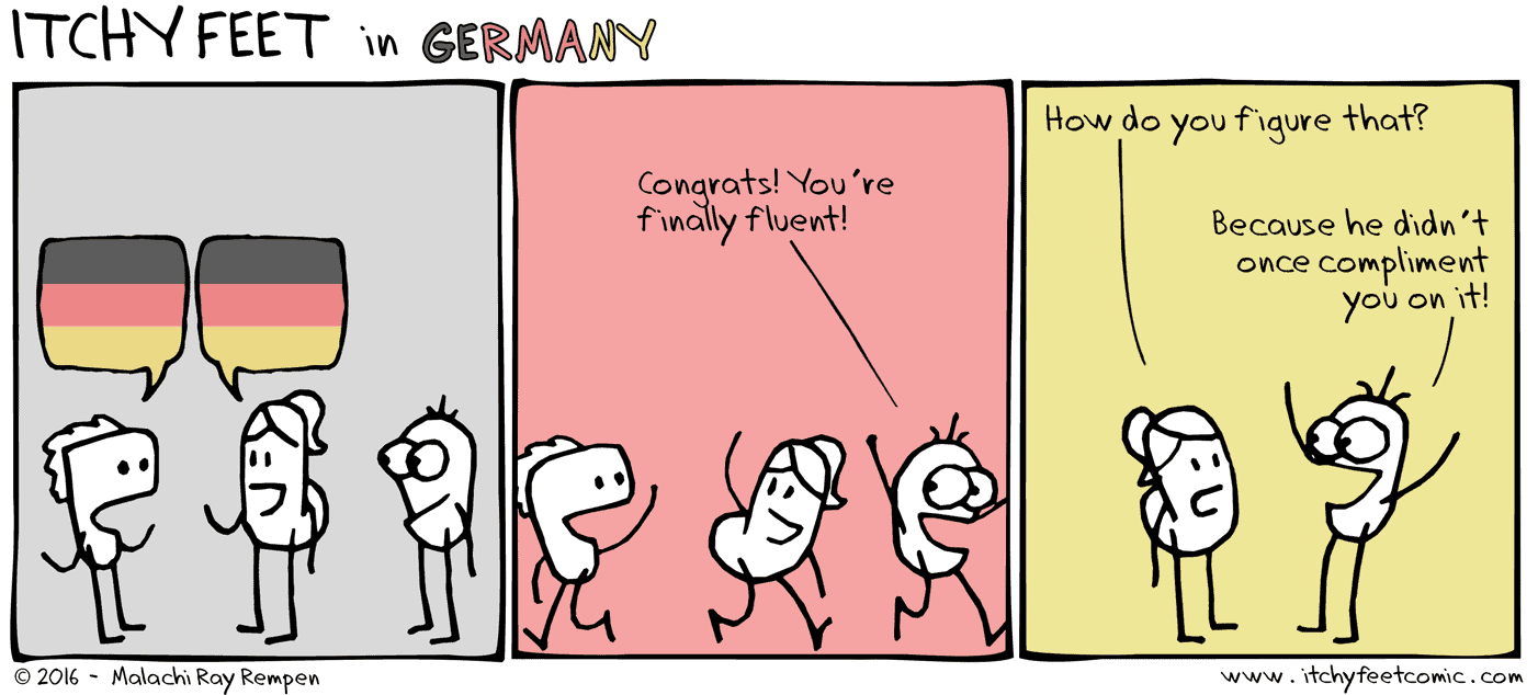 fluency compliments mean you aren't fluent