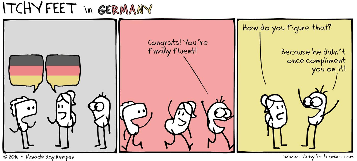fluency compliments mean you aren't fluent