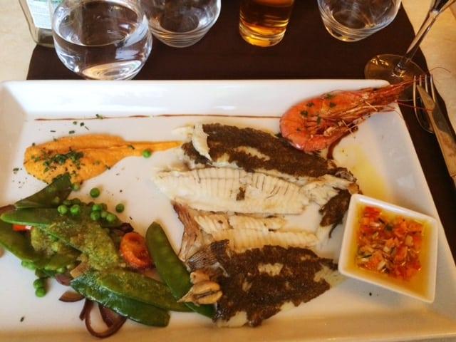 fish dinner la mouette collioure