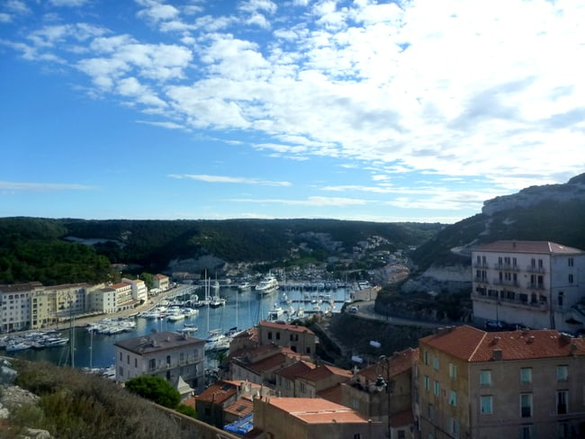 corsica view bonifacio port