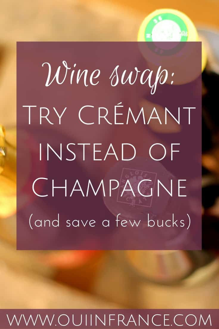 try cremant instead of champagne for cheaper alternative
