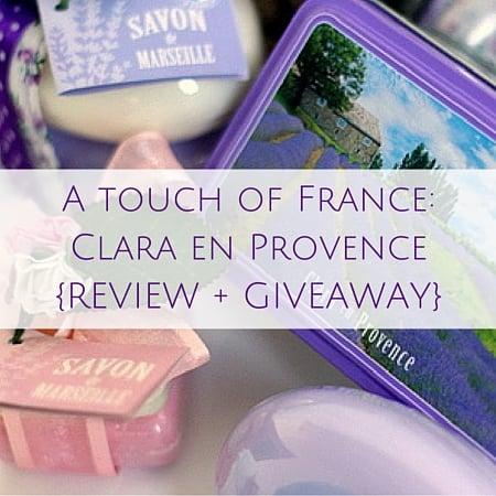 Clara en Provence{REVIEW + GIVEAWAY}