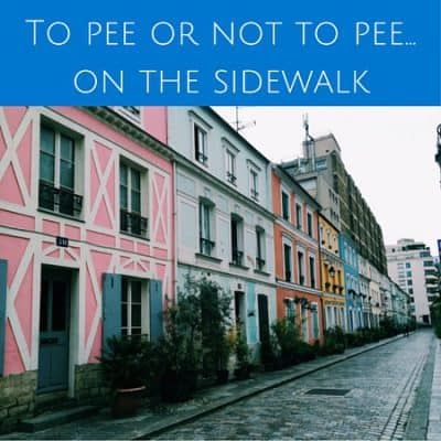 To pee or not to pee… on the sidewalk