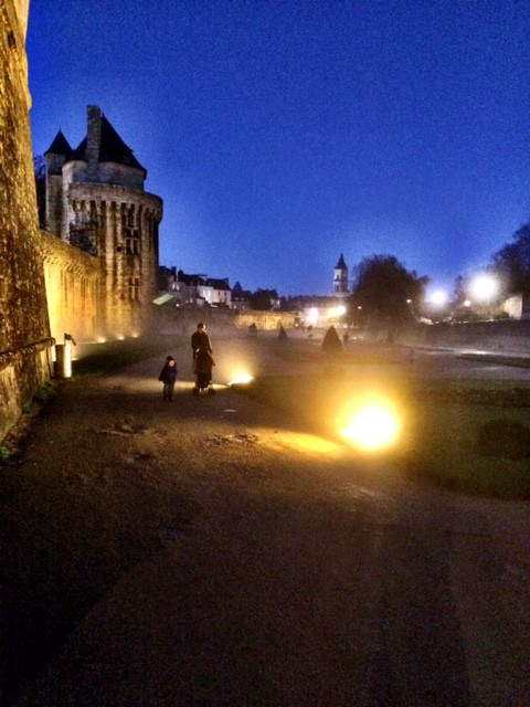 vannes france at night
