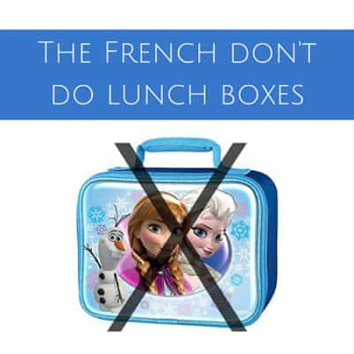 The French don't do lunch boxes