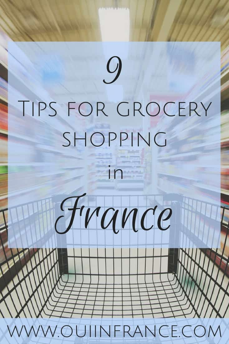 Tips for grocery shopping in france