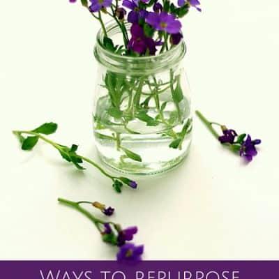 Ways to repurpose French glass yogurt jars