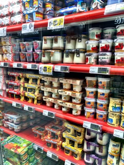 french yogurt aisle