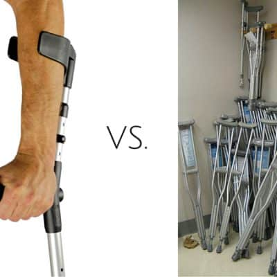 French crutches vs. American crutches