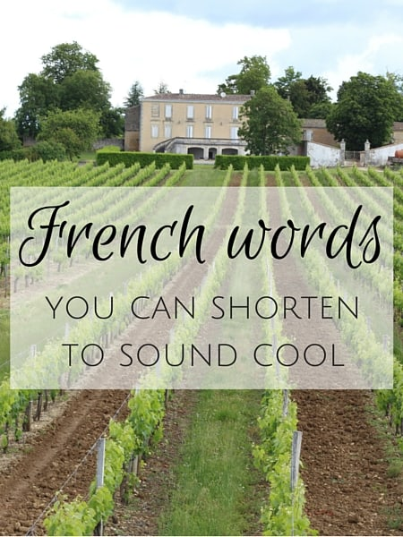 french words shortened