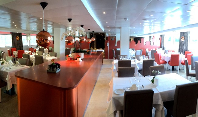 ms loire princesse river cruise restaurant