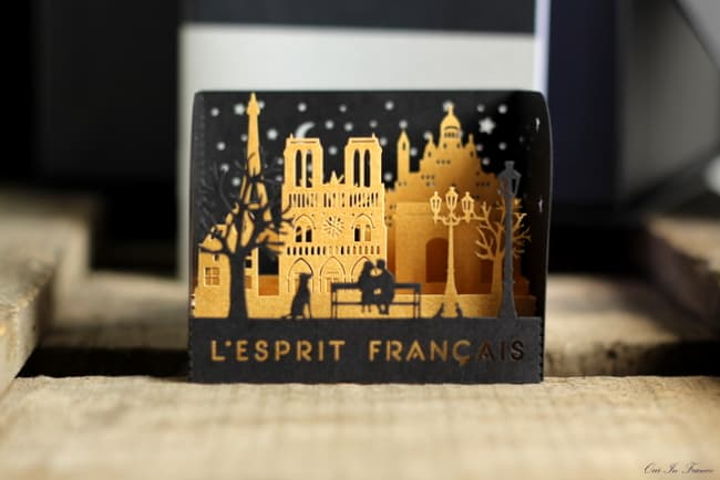 French popup card